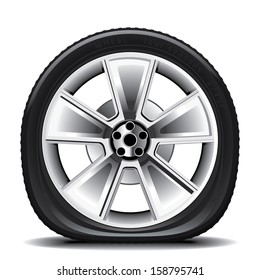 Drawing of the tire on a white background