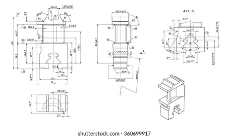 Technical Drawing Machine Images Stock Photos Vectors
