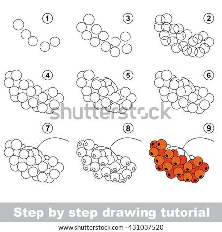 Drawing Tutorial Children Easy Educational Kid Stock Vector Royalty