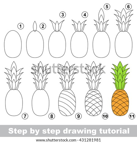 Drawing Tutorial Children Easy Educational Kid Stock Vector Royalty