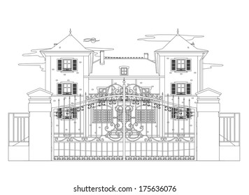 Drawing of a very nice house