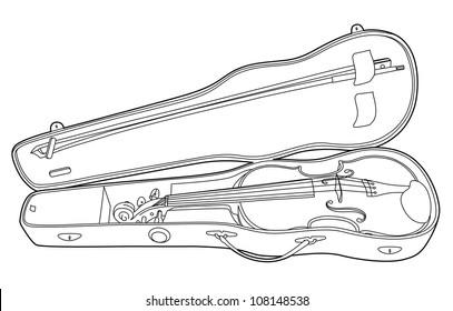 Drawing violin