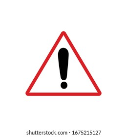 Drawing Warning icon on white background .Vector illustration.