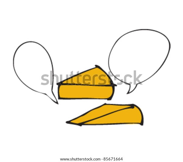 drawing of a wedge with speech bubbles