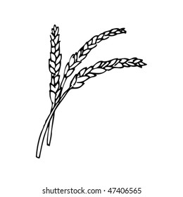 Wheat Drawing Images Stock Photos Vectors Shutterstock