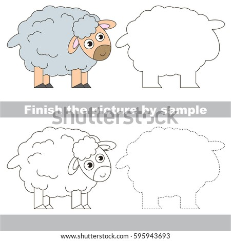 Drawing Worksheet Preschool Kids Easy Gaming Stock Vector Royalty