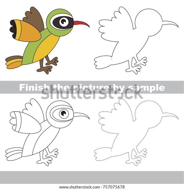 Drawing Worksheet Preschool Kids Easy Gaming Stock Vector