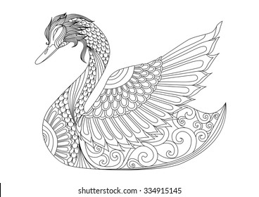 Duck Coloring Pages Images, Stock Photos & Vectors | Shutterstock