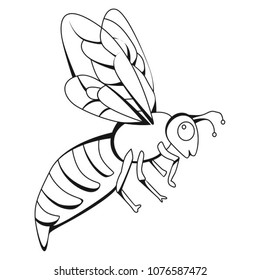 royalty free bee doodle images stock photos vectors shutterstock Bees Not Honey Bees drawings for honey bee painting