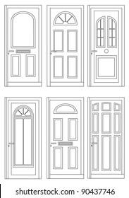 Drawings six doors