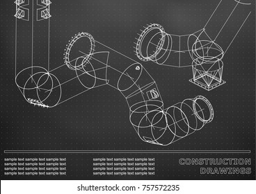 cad drawing pipes Images, Stock Photos & Vectors | Shutterstock