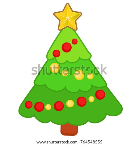 drawn funny christmas tree with ornaments isolated on a white background sketch of christmas festive - Funny Christmas Tree Ornaments