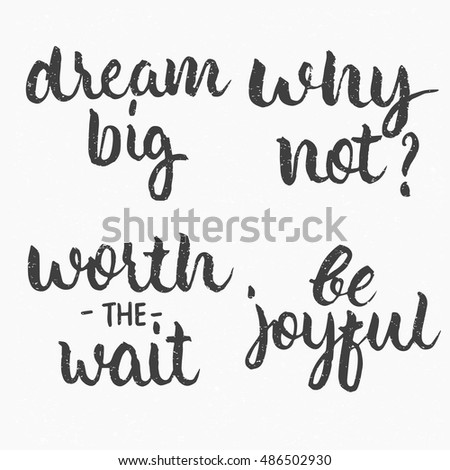 Dream Big Why Worth Wait Be Stock Vector Royalty Free 486502930