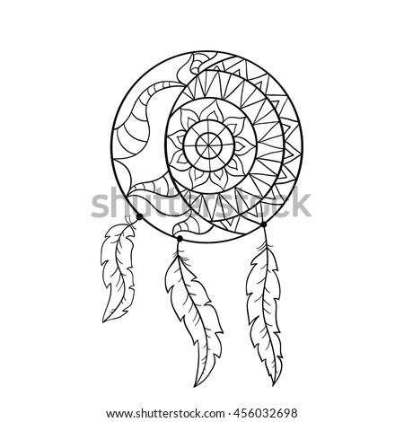 Dream Catcher Symbol Sun Moon Ethnic Stock Vector Royalty