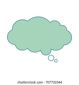 dream cloud isolated icon