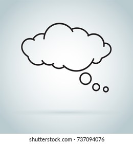 dream cloud isolated icon. Modern pictogram. vector symbol