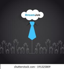 Dream job - conceptual logo eps10 illustration
