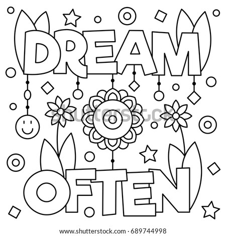 dream often coloring page vector illustration stock vector royalty