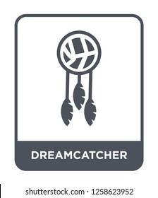 dreamcatcher icon vector on white background, dreamcatcher trendy filled icons from Museum collection, dreamcatcher simple element illustration