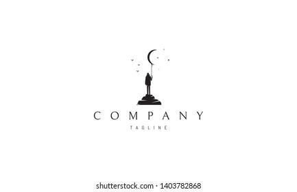 Dreamer abstract black vector logo design image