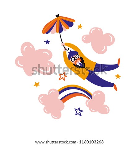 Dreamer flying umbrella Relax