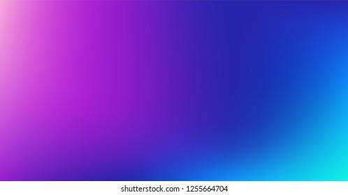 Dreamy Blue Purple Vibrant Gradient Vector Background. Color Overlay,