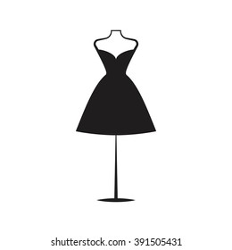 a dress black mannequin illustration