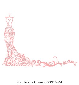 Dress Boutique Bridal Logo Template Illustration Design