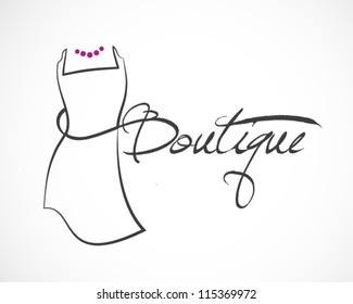 Dress Boutique Illustration