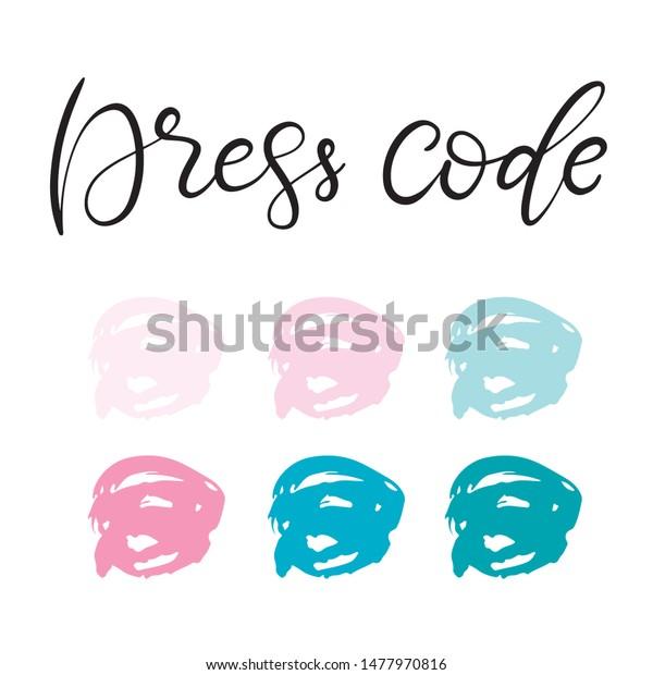 Dress Code Color Palette Easy Change Stock Vector Royalty