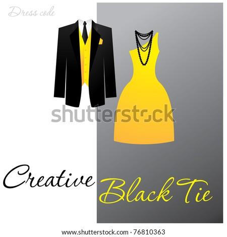 bcadc35ab61 Dress Code Creative Black Tie Man Stock Vector (Royalty Free ...