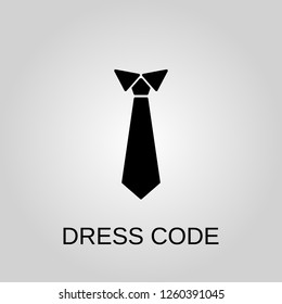 Dress code icon. Tie concept symbol design. Stock - Vector illustration can be used for web
