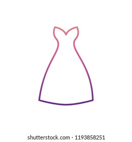 dress with decolletage icon in nolan style. One of Summer Clothes collection icon can be used for UI, UX