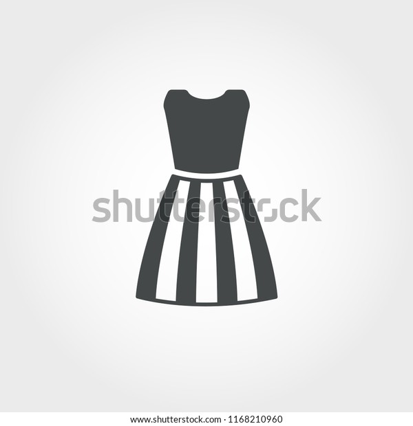 Dress Female Icon Pixel Perfect Element Stock Vector Royalty Free 1168210960