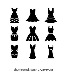 dress icon or logo isolated sign symbol vector illustration - Collection of high quality black style vector icons