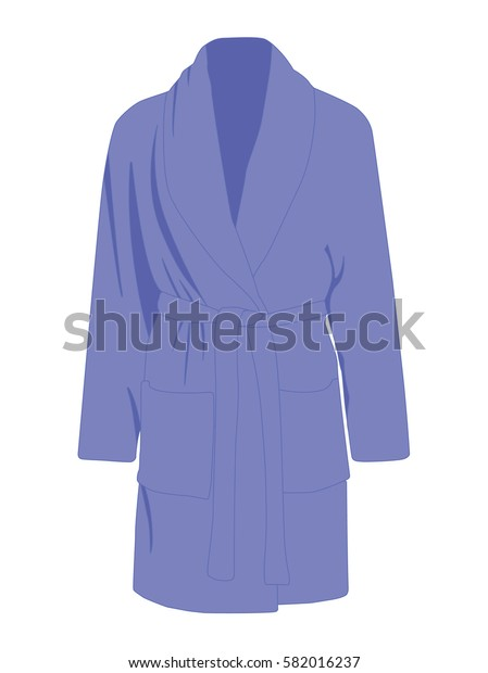 Dressing gown vector blue