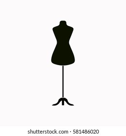 Dressmaker model  icon Vector design.