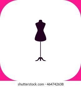 Dressmaker model vector icon on white background.