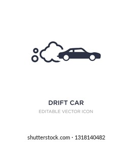 drift car icon on white background. Simple element illustration from Sports concept. drift car icon symbol design.