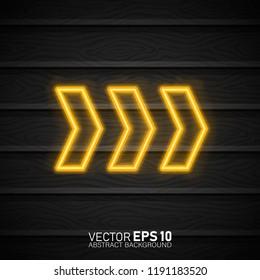 Drift Show Racing neon text. Drift banner for web or print. Neon glowing arrow pointer on dark background. Drift Show sign vector design template.