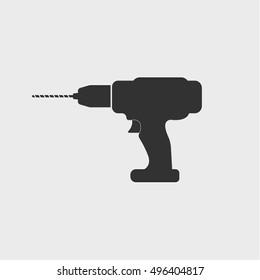 Dril icon, vector design