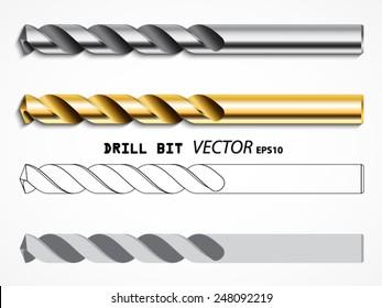 drill bit types /vector set/ illustration eps10