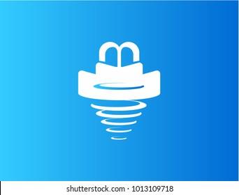 Drill Bit Vector Logo. Illustration icon