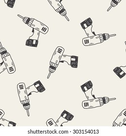 drill doodle seamless pattern background