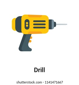 Drill icon vector isolated on white background for your web and mobile app design, Drill logo concept