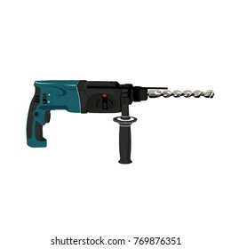 drill machine vector hand electric plastic