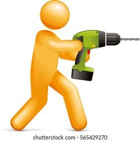 Drill Person icon