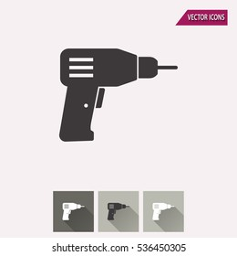 Drill vector icon. Illustration isolated for graphic and web design.