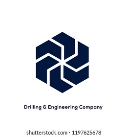 Drilling and Engineering logo vector. Abstract symbol. Construction icon