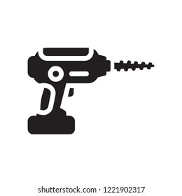Drilling machine icon. Trendy Drilling machine logo concept on white background from Industry collection. Suitable for use on web apps, mobile apps and print media.